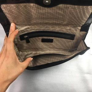 Cole Haan Bags - Cole Haan black woven leather clutch